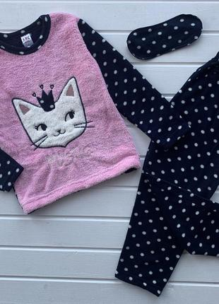 Пижама для девочки на флисе