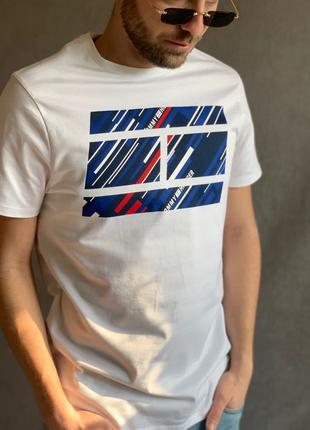 Мужская оригинальная брендовая футболка Tommy Hilfiger sport