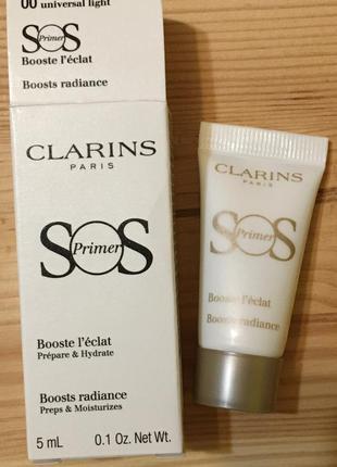 Clarins sos primer 00 база под макияж праймер для сияния 5 мл
