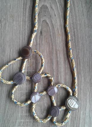 Креативное  текстильное колье ожерелье-стильно необычно красив...