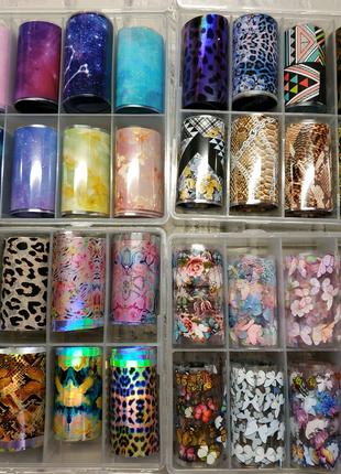 Фольга для нігтів манікюру дизайну гель лаки гель лаку