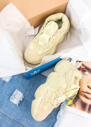 Женские кроссовки adidas yeezy 500 super moon yellow