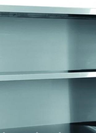 Полка 3х уровневая с боковой зашивкой из нержавейки