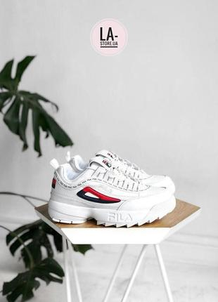 Новинка! женские кроссовки fila disruptor white logo