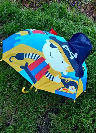 Детский качественный 3д зонт трость для мальчика пират