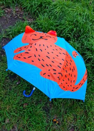 Детский качественный 3д зонт трость для мальчика и девочки