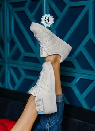 Шикарные кроссовки adidas superstar white унисекс (мужские и ж...