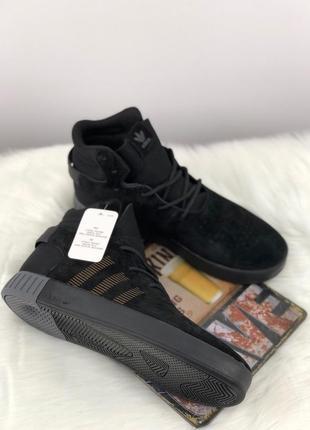 Шикарные мужские кроссовки adidas tubular invader suede core b...