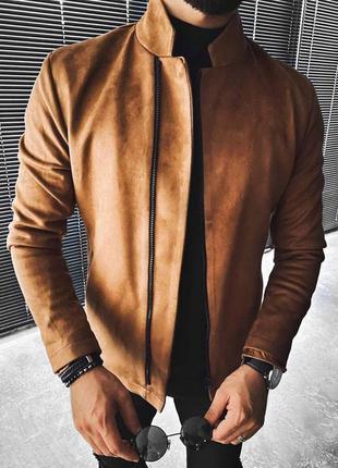 Куртка бомбер мужская коричневая турция / курточка чоловіча ко...