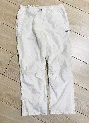 Белые спортивные брюки штаны м л