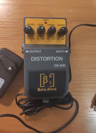Педаль эффектов BETA AIVIN DS-100 + Блок питания 9V 1A
