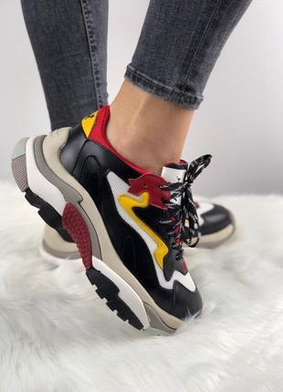 Новинка! женские кроссовки ash addict sneakers black/ red/ white