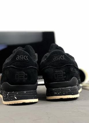 Шикарные мужские зимние кроссовки asics gel lyte 3 black