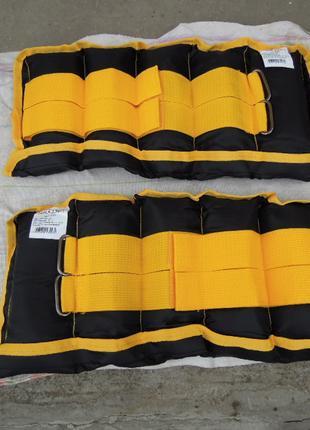 Утяжелители от 0.5 до 2.5кг наборные рук ног регулируемые обтяжув