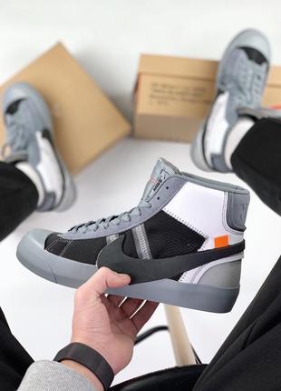 Шикарные мужские кроссовки/ кеды nike blazer mid x off white g...