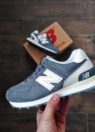 Шикарные женские весенние кроссовки new balance 574 grey