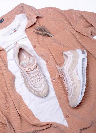 Шикарные женские весенние кроссовки nike air max 97 pink