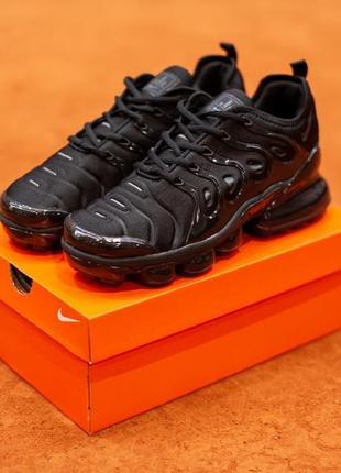 Шикарные мужские кроссовки nike tn plus vapormax black (весна/...