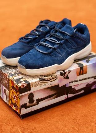 Шикарные мужские кроссовки nike air jordan 11 blue (весна/ лет...