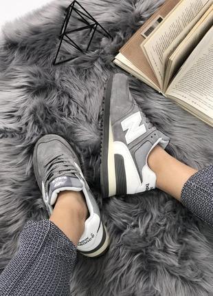 Шикарные женские кроссовки new balance 574 grey (весна/ лето/ ...