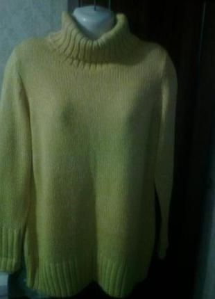 Меланжевый длинный  свитер бангладеш размер 50-54 укр