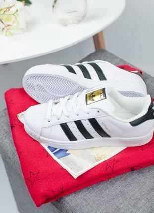 Шикарные женские кроссовки adidas superstar white  😍 (весна/ л...
