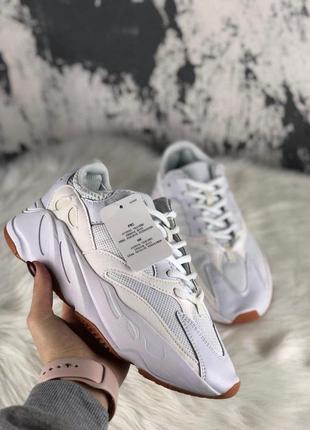 Шикарные мужские кроссовки yeezy wave runner 700 white 😍 (весн...