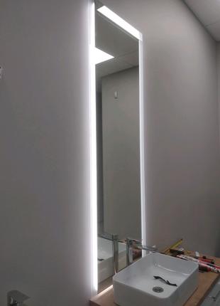 Зеркало с подсветкой 1700*600 с матовым краем