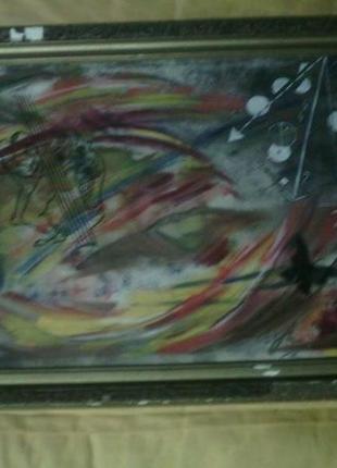 Картина абстракция холст, масло размер 80см на 60см