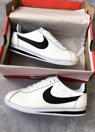 Шикарные мужские кроссовки nike cortez white/ black  😍 (весна/...