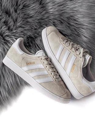 Шикарные женские кроссовки adidas gazelle grey 😍 (весна/ лето/...