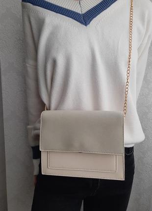 Стильная сумочка, бежевая сумочка, сумка, красивая сумочка