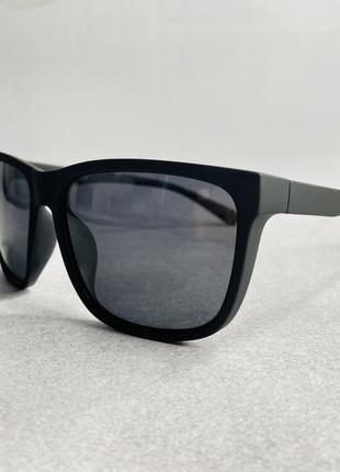 Очки мужские солнцезащитные черные матовые м поляризацией