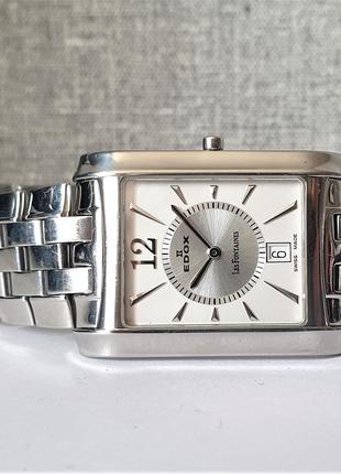 Мужские часы Edox Les Fontaines 27023 Swiss made Sapphire
