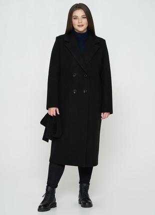 Пальто кашемировое, длинное, черный цвет
