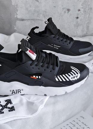 Шикарные мужские кроссовки nike huarache black x off-white 😍 (...