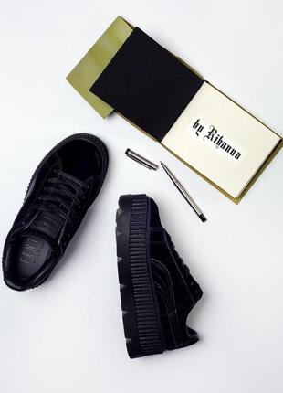 Шикарные женские кроссовки на платформе puma x rihanna cleated...