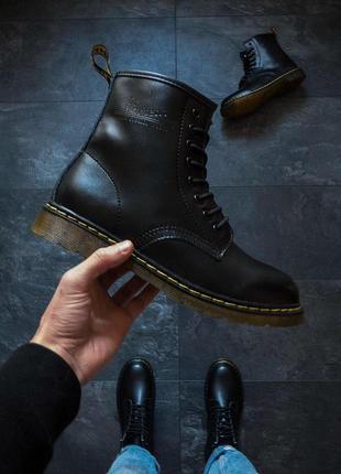 Скидка! мужские ботинки dr. martens black 😍 {демисезон}