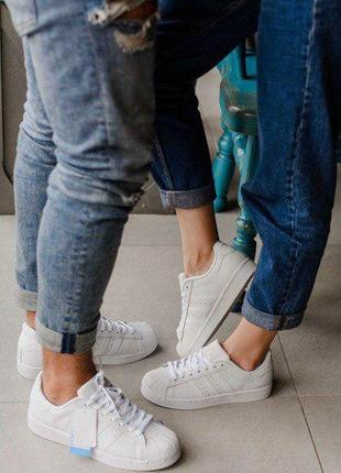 Шикарные кроссовки adidas superstar white 😍 (весна/ лето/ осен...