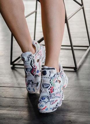 Шикарные женские кроссовки reebok insta pump vetements 😍 (весн...