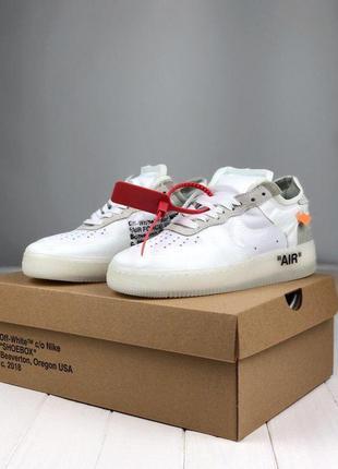 Шикарные мужские кроссовки nike air force x off white (весна/ ...