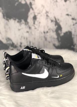 Шикарные мужские кроссовки nike air force 1 utility black 😍 (в...