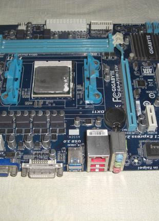 4 ядра Athlon II x4 631 + плата Gigabyte GA-A75M-S2V VGA/DVI
