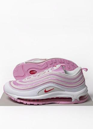 Шикарные женские кроссовки nike air max 97 white pink 😍 (весна...
