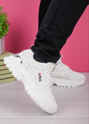 Женские белые кроссовки фила
