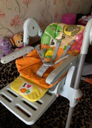 стульчик для кормления Chicco poly magic чико Поли