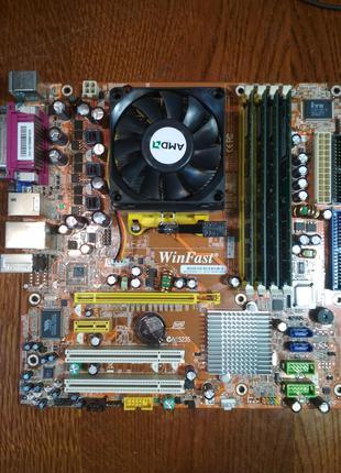 Материнка Foxconn WinFast MCP61VM2MA-RS2H+Athlon 3500+2.2Ghz