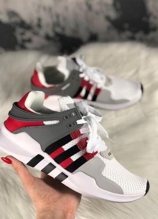 Шикарные мужские кроссовки adidas eqt support adv grey red bla...