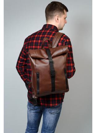 Рюкзак ролл коричневый