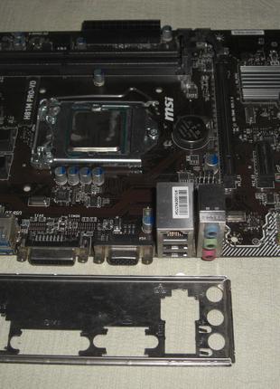 Core i5-4570 + плата Socket 1150 MSI H81M Pro-VD DVi/VGA